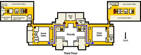 Third floor chamber access diagrams