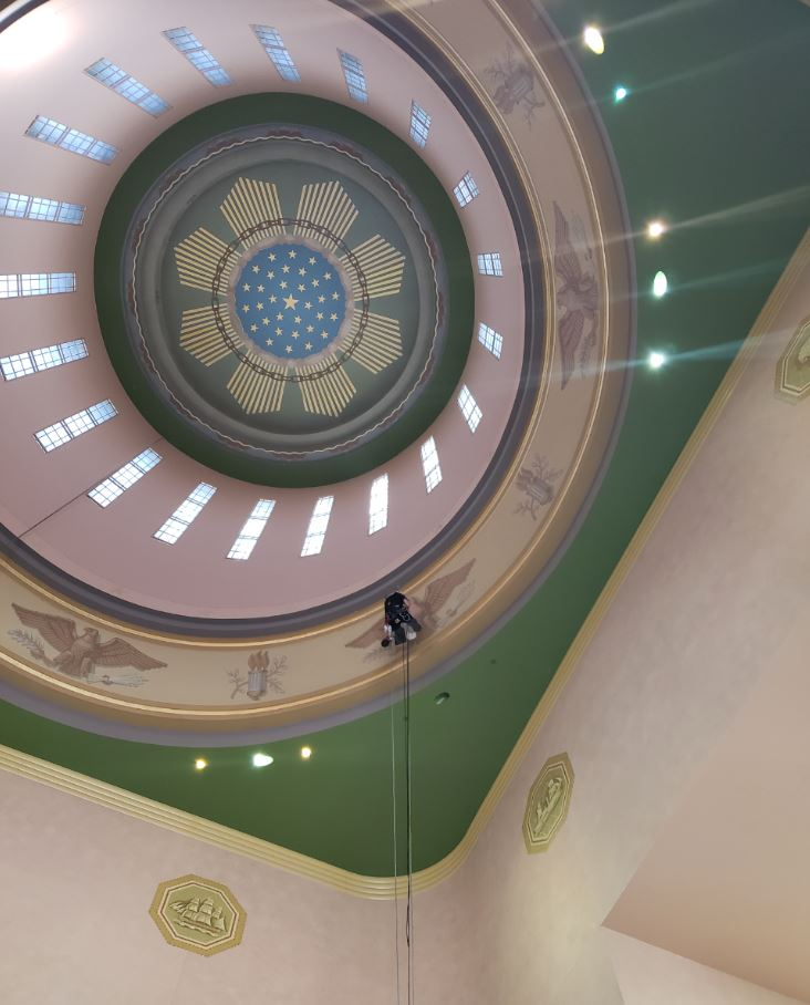 20180821 Rotunda Dome Artwork Restoration 5.1.JPG