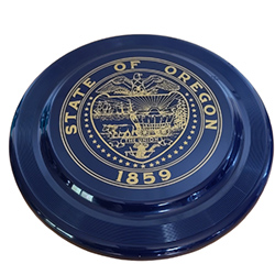 Navy blue with state seal flying disc
