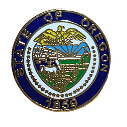State Seal Metal Pin