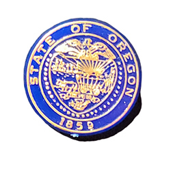 State Seal Plastic Pin