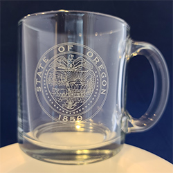 State Seal Glass Mug