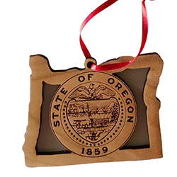 Oregon State Seal Wood Ornament