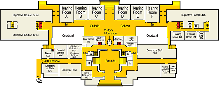 Image of Capitol First Floor Plan