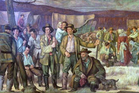Picture of a historic mural