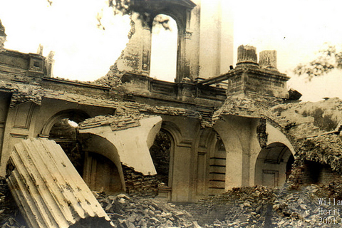 Picture showing fire damage of the capitol