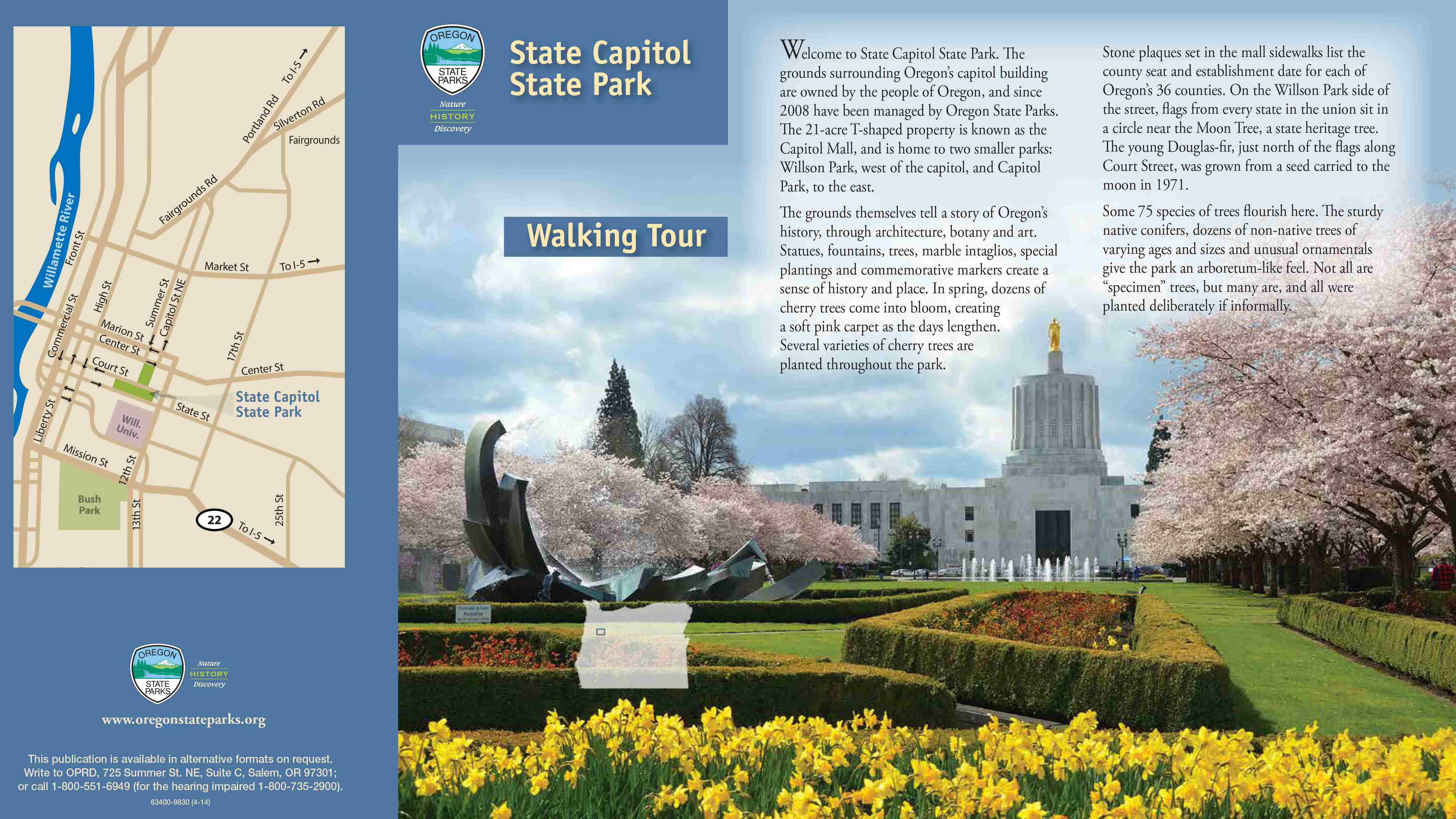 Clickable image of the State Capitol State Park Self-Guided Tour Brochure